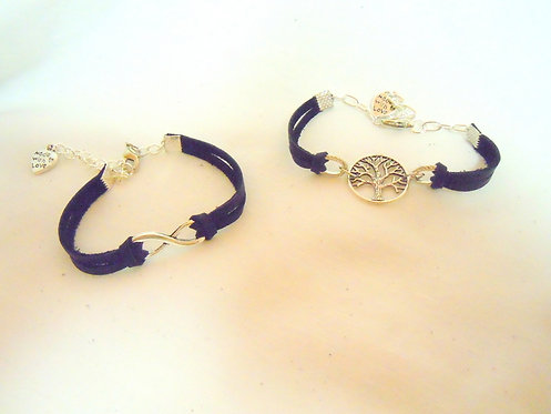 Silver Infinity or Tree of Life Bracelet