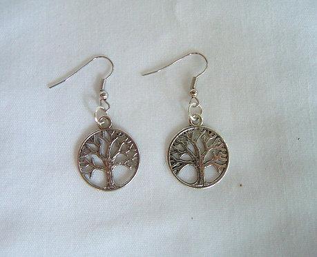 Silver Tree of Life Earrings ER 104