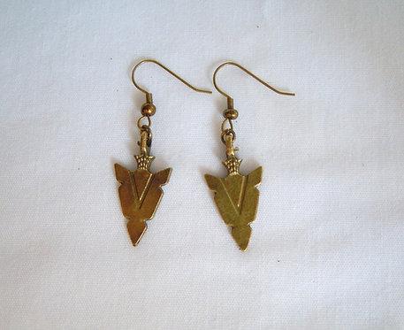 Bronze Arrowhead Earrings ER 112