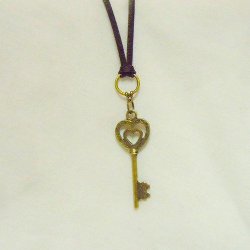 Bronze Key Necklace NBKB 101