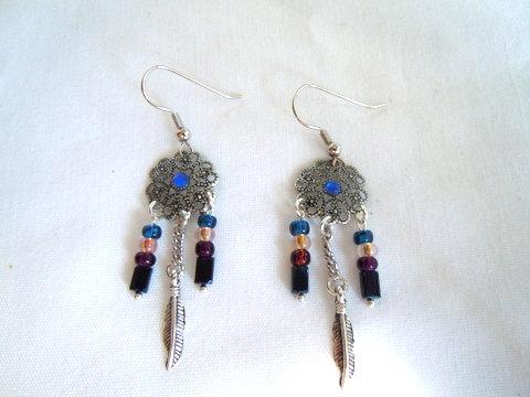 Silver Dream Catcher Earrings ER 113