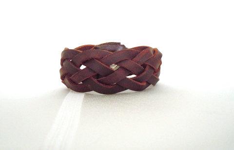 5 strand Brown Braided Kodiak Leather Cuff KL101