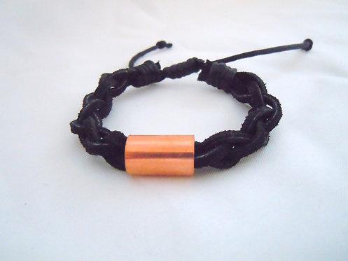 Black Suede with Copper Bracelet  BLB 48