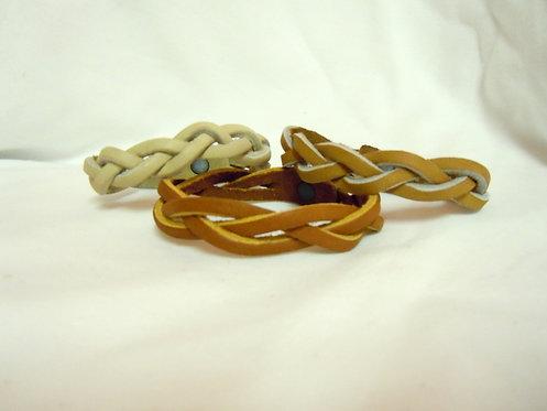 Leather Mystery Braid Bracelet