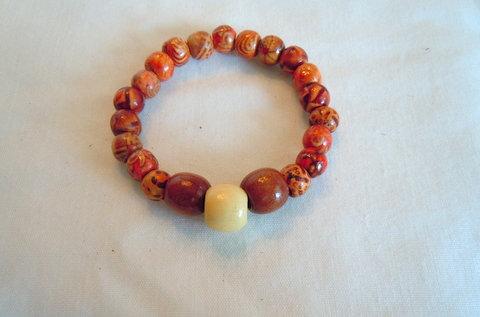 Wooden Bead Stretch Bracelet TBB 101