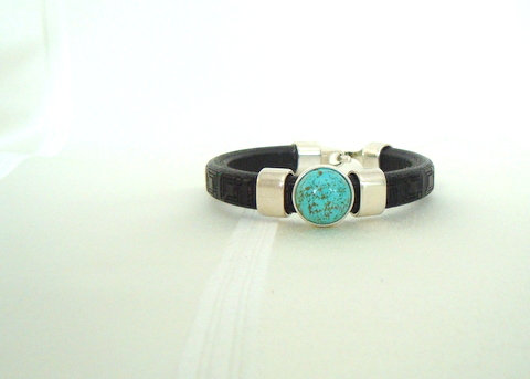 Black with Turquoise Stone LL106