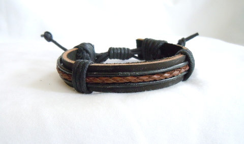 Black with Brown Centered Braid MB 108