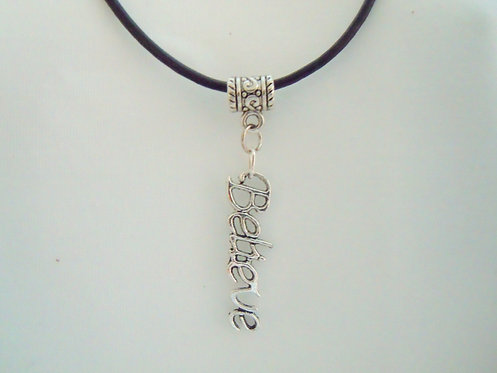 Silver Believe Necklace NSB 104