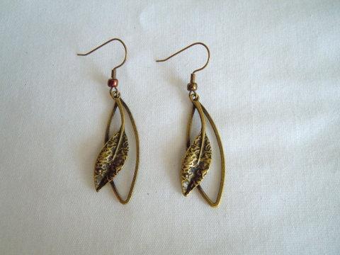 Bronze Leaf Earrings ER 115