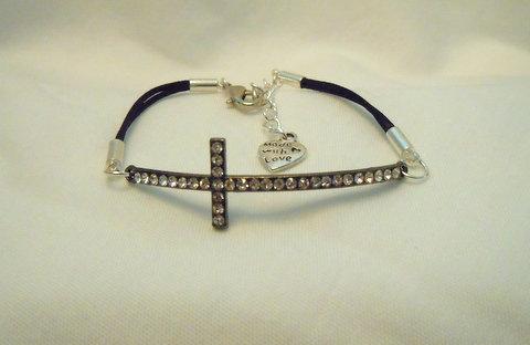 Rhinestone Cross Bracelet BSC 101