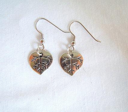 Silver Leaf Earrings ER 110