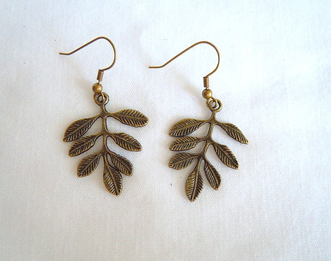 Bronze Leaf Earrings ER 114