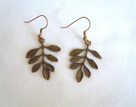 Bronze Leaf Earrings ER 114
