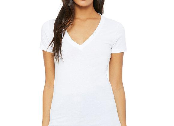 Bella + Canvas B6035 Ladies' Jersey Short Sleeve Deep V-Neck