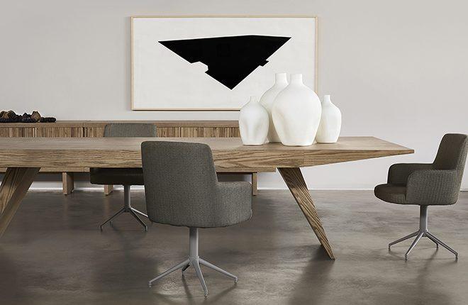Mesa Lider Interiores Vetta madeira rústica retangular