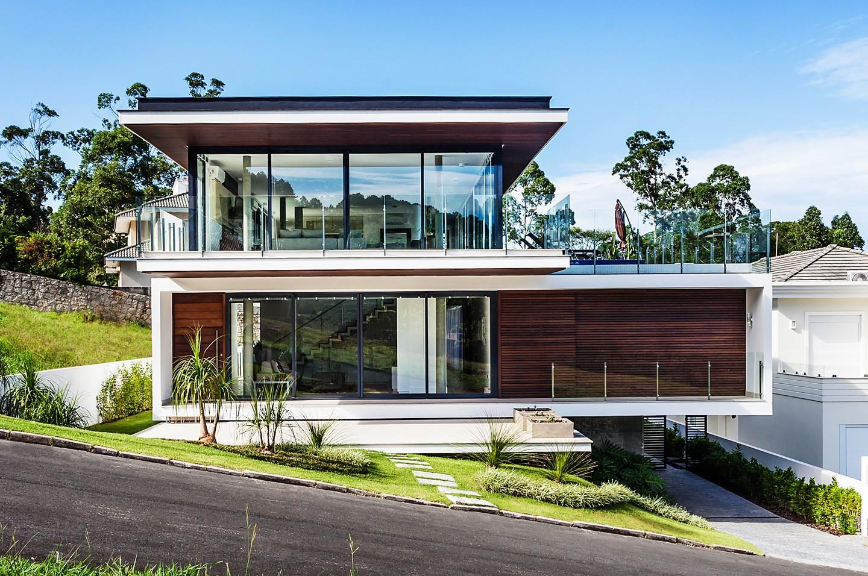 Refer ncia resid ncia moderna em terreno inclinado - Casa con terreno murcia ...