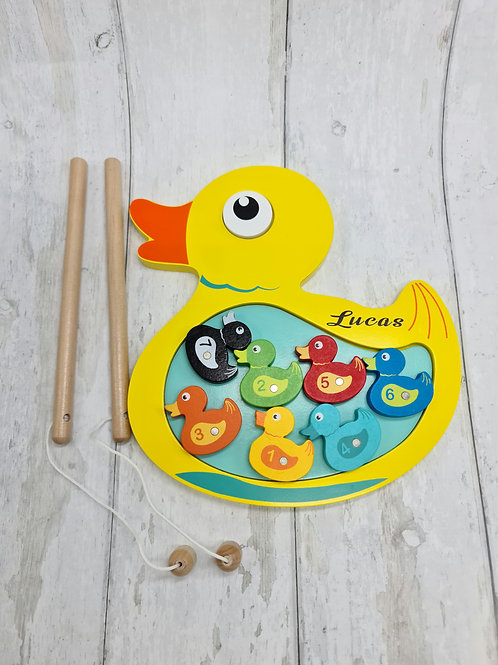Personalised Magnetic Duck Game, Wooden toy, Birthday, Gift fo