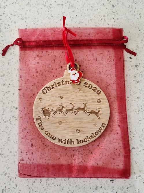 Personalised Christmas lockdown bauble