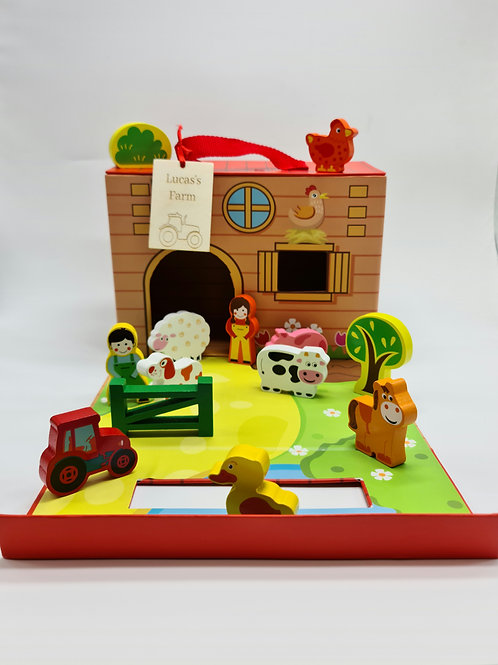 Fold away farm playset