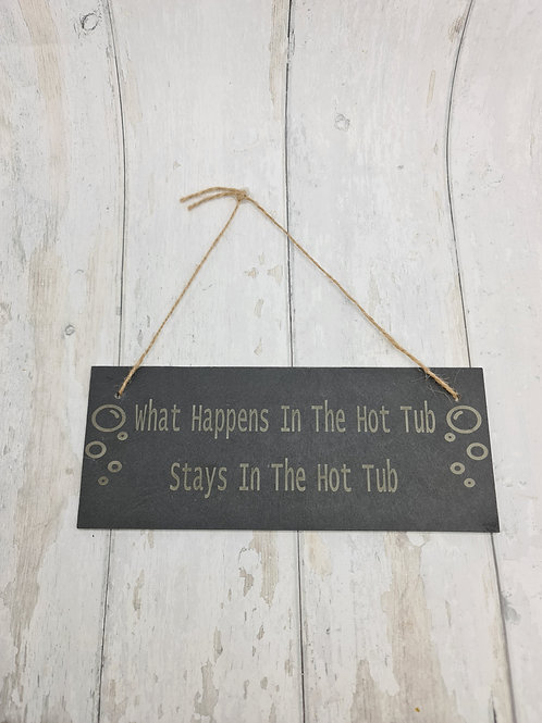 Hot Tub Slate Sign