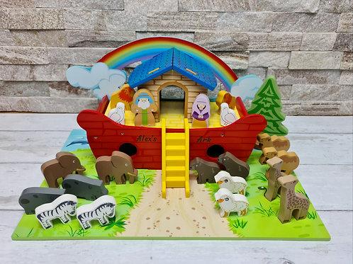 Wooden Engraved Personalised Noah's Ark