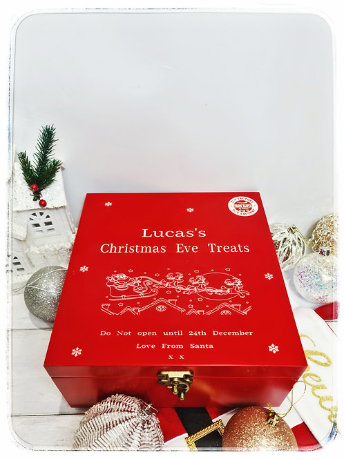 Luxury red Christmas eve box Personalised
