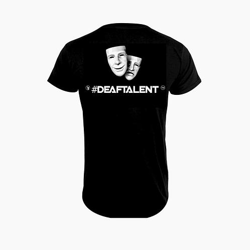 #DeafTalent® Theater Masks Jersey T-Shirt (White)