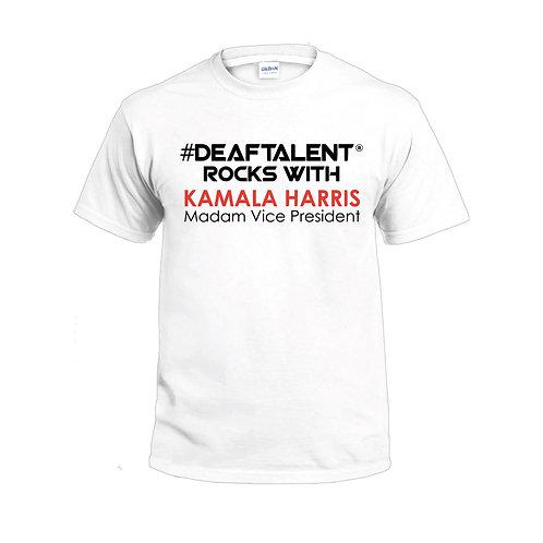 #DeafTalent® White tee Kamala Harris