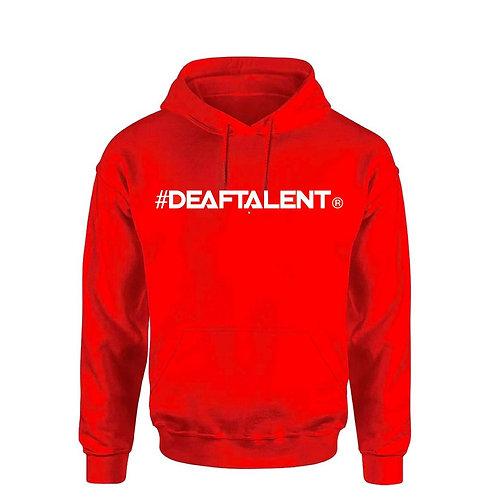 #DeafTalent® Hoodie (Red) (PreOrder)