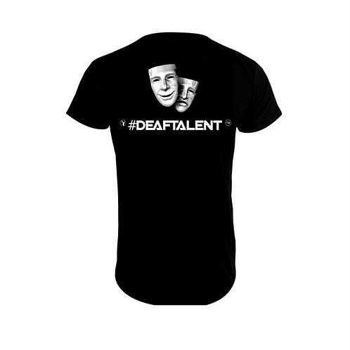 #DeafTalent™ Theater Masks Jersey T-Shirt (Silver Metallic)