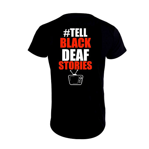 Tell Black Deaf Stories Jersey (F/B) T-Shirt (Pre-Order)
