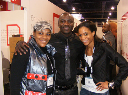 Rapper, Akon at CES in LV