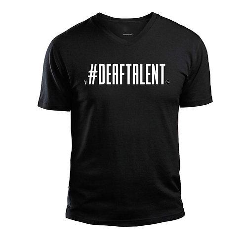 DeafTalent® V-Neck Jersey T-Shirt (Pre-Order)