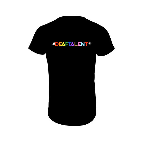 #DeafTalent® Rainbow Jersey T-Shirt (PreOrder)