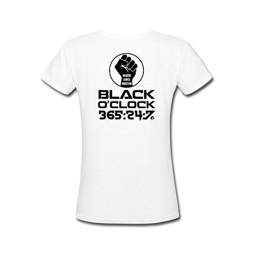 Black O'Clock Female Tee (White) (PreOrder)