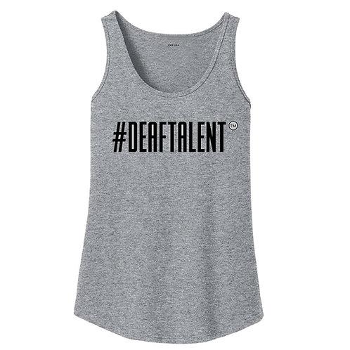 DeafTalent Women Grey TankTop (Pre-Order)