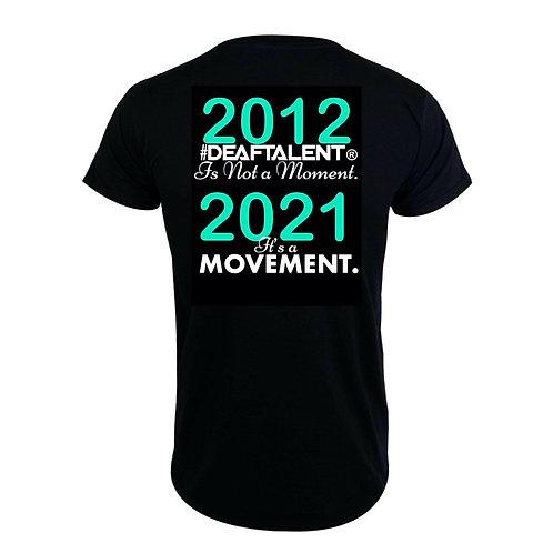 2012-2021 #DeafTalent® Movement Tee (B/F)  (PreOrder)