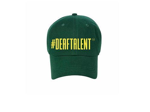 #DeafTalent® Green Baseball Cap