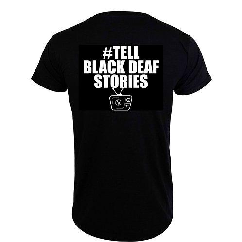 Tell Black Deaf Stories Jersey (F/B) T-Shirt