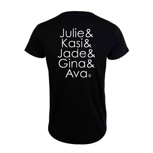 Julie, Kasi, Jade, Gina, Ava Jersey T-Shirt, F/B (Pre-Order)