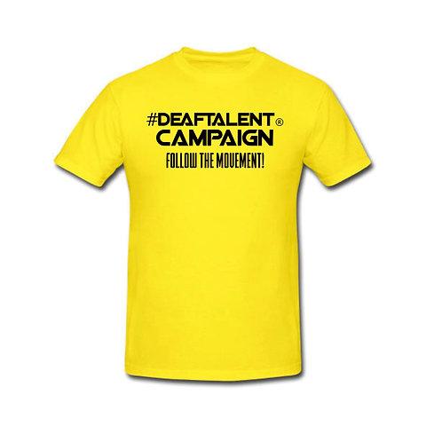#DeafTalent® Campaign Jersey Tees (PreOrder)