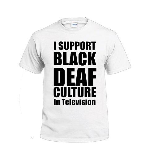 Black Deaf Culture Jersey T-Shirt (Pre-Order)