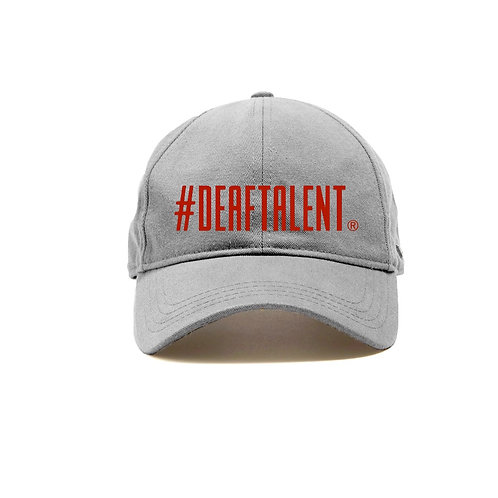 #DeafTalent® Grey Baseball Cap (Pre-Order)