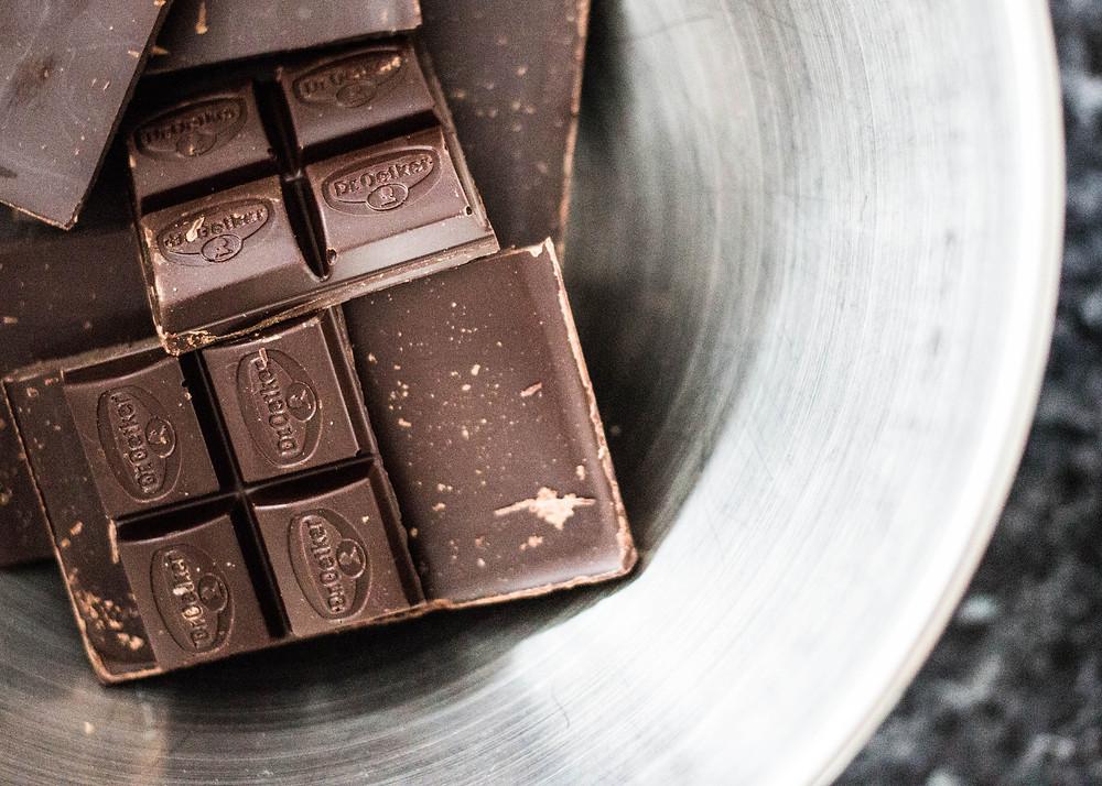 Schrijf over de smaak van chocolade