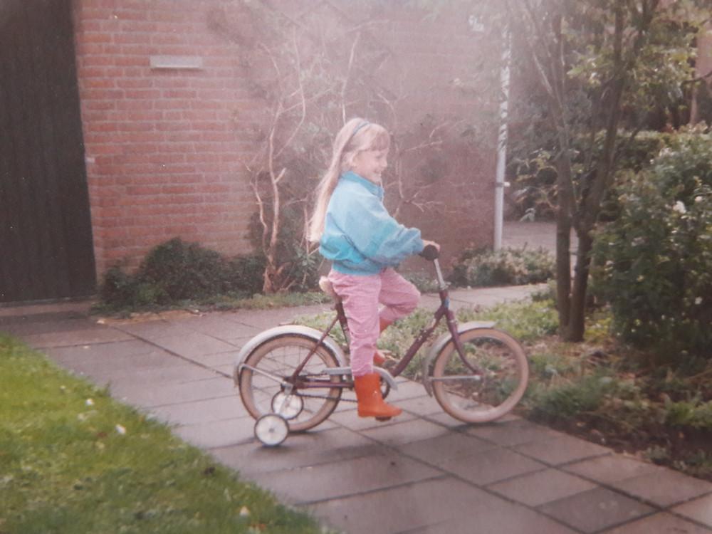 Eef op de fiets