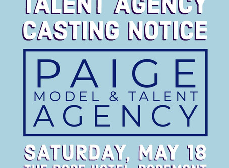 Paige Talent Agency Casting Call