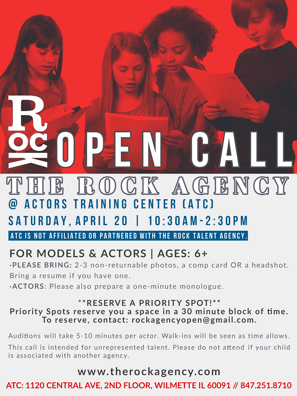 The Rock Agency Open Call
