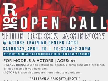 The Rock Agency - Open Call for Young Actors