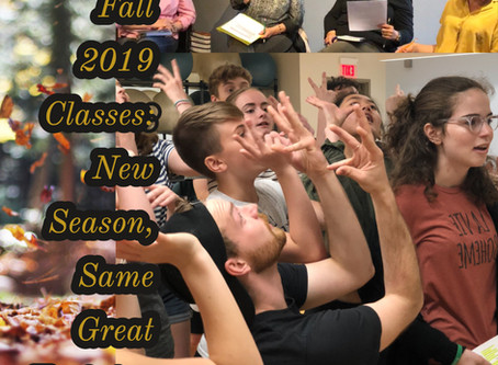 Fall 2019 Classes: New Season, Same Great Training