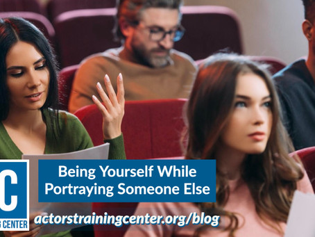 Being Yourself While Portraying Someone Else